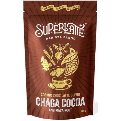 Cosmic Choc Cacao,Chaga en Maca wortel 200 gram SuperLatte