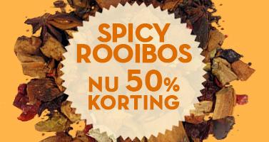spicy rooibosthee met 50% korting