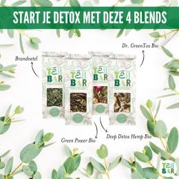 Detox 7 daagse bij Tea Bar! Crush je Blue Monday blues met Tea Bar's allerbeste health boosters 🤸👊   Zoals Dr Greentox, een frisse jongen met citrus vibes. Of good old Brandnetel, bekend als purifier. Ook speciaal, de in Nederland opgegroeide Deep Detox Hemp, echt een superchille CBD kruidenblend! Staff's favourite is de Green Powerrr, een groene held met een kick en een easy-does-it middagdip oppepper 💪👈   #originalteabar #detox #teatox #detoxthee #teatox  #greentea #puerhtea #greentox #tealover #tealovers #looseleaftea #ontgiften #healthylifestyle #healthytea #selfcare #bluemonday