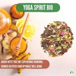 """Dan weer je zonnebril op, en dan weer je regenjas aan.. Van dat wispelturige weer worden wij persoonlijk een beetje moe😪🌧️ Als we een opkikkertje willen grijpen we dan ook naar de Yoga Spirit, een ontzettend pittige en krachtige mix van groene thee met gember, peper en kurkuma. Wat doe jij tegen deze """"lentedip""""?  #originalteabar #teabar #gember #theeleuten #theeliefhebbers #lossethee #looseleavetea #tealovers #groenethee #wittethee #kurkuma"""