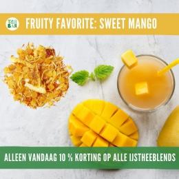 🌞Laatste kans! Alleen vandaag nog 10% korting op alle ijstheeblends 🍹 De Sweet Mango is een tropische dorstlesser vol echte stukken fruit zoals mango, ananas, sinaasappel & aardbeien. Je hoeft helemaal niets toe te voegen behalve water en ijsblokjes voor een verfrissende zelfgemaakte icetea😎🌴  #originalteabar #teabar #lossethee #kruidenthee #mango #sweetmango #fruittea #ijsthee #homemade #icetea #icetearecipe #coldbrew #healthydrinks #tealovers #ilovetea